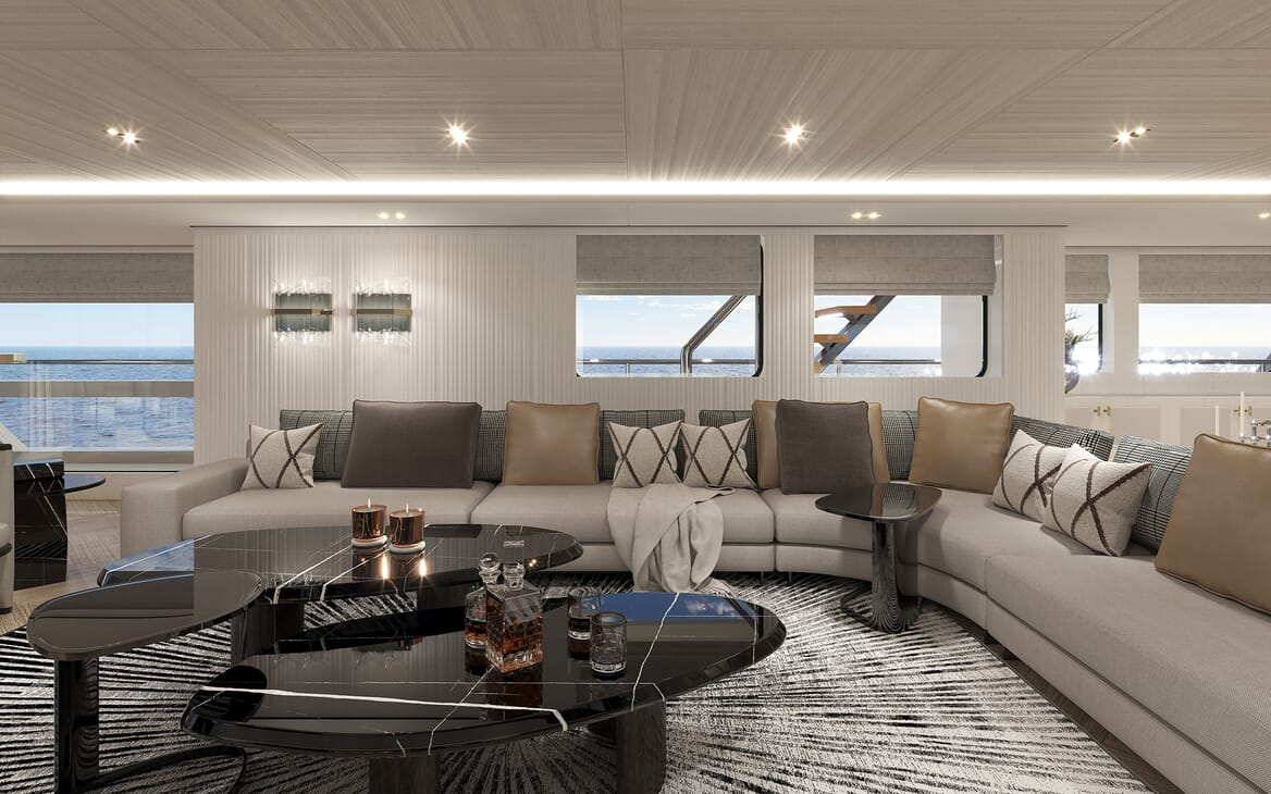 Motor Yacht PROJECT PN 116 Salon Seating Render