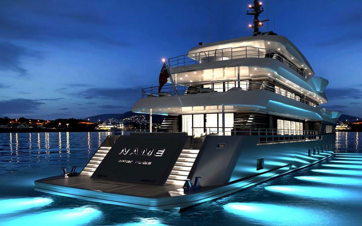 Motor Yacht MAJESTY 175 Aft Evening