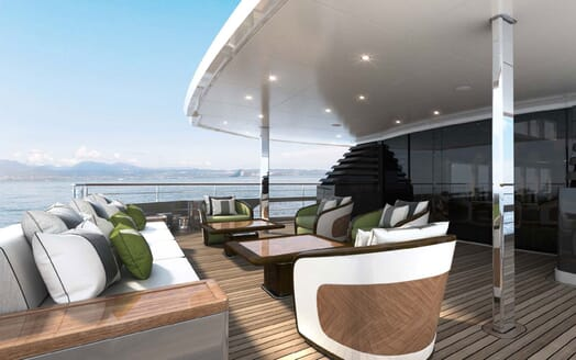 Motor Yacht MAJESTY 175 Aft Deck Seating