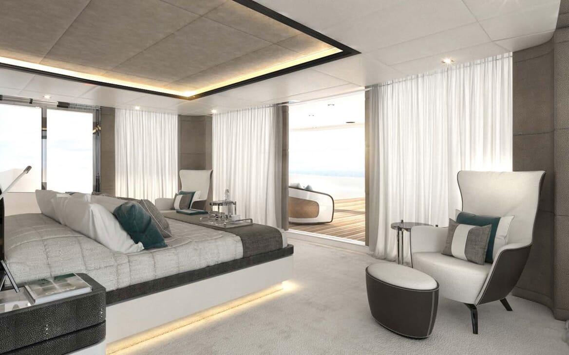 Motor Yacht MAJESTY 175 Stateroom with Balcony