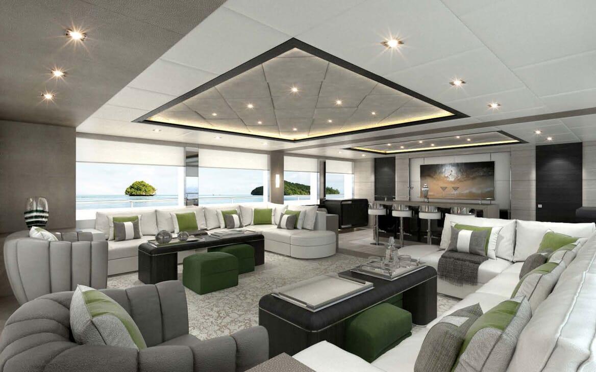 Motor Yacht MAJESTY 175 Main Salon