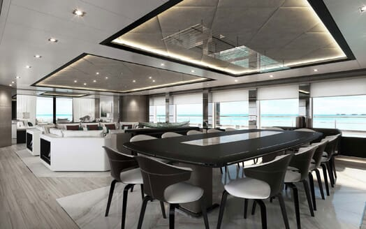 Motor Yacht MAJESTY 175 Main Deck Dining Table