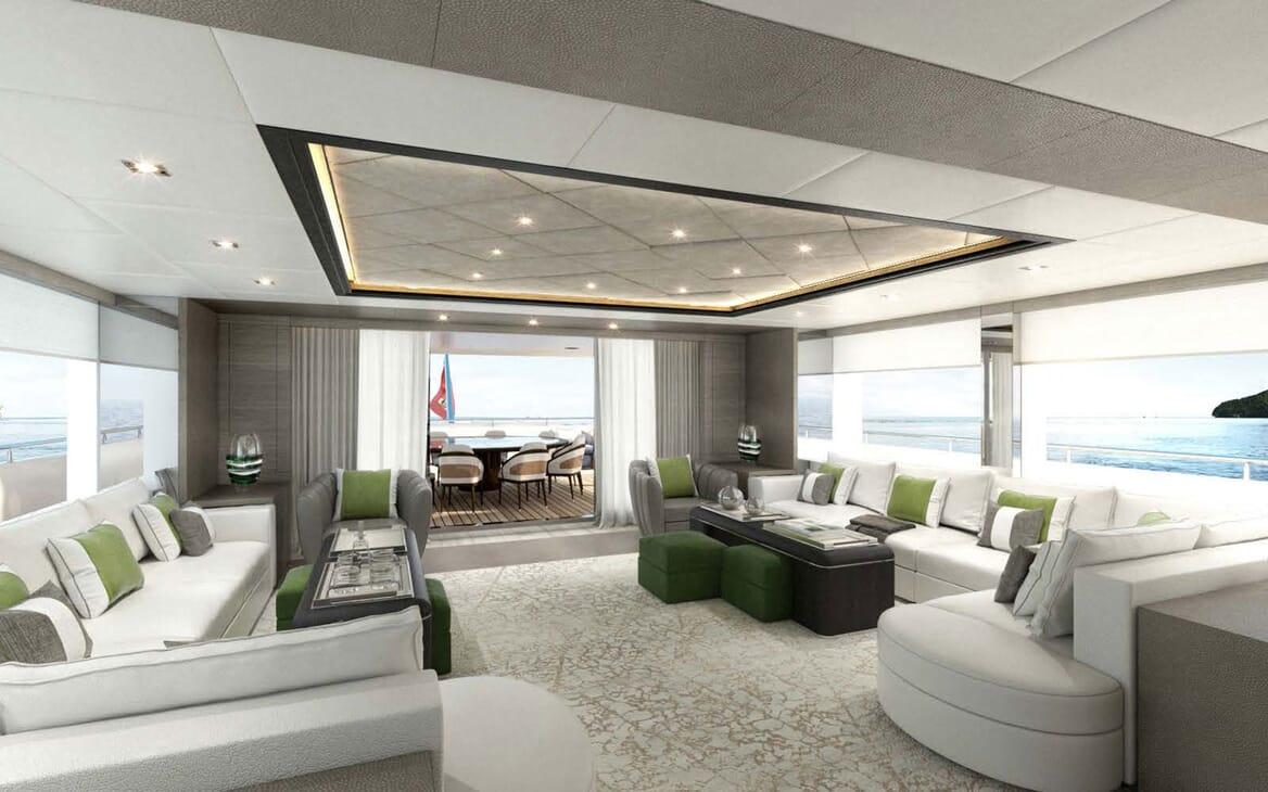 Motor Yacht MAJESTY 175 Salon Seating