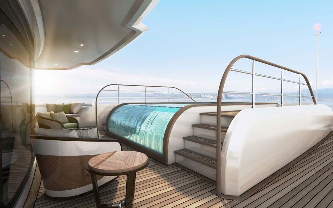 Motor Yacht MAJESTY 175 Swimming Pool