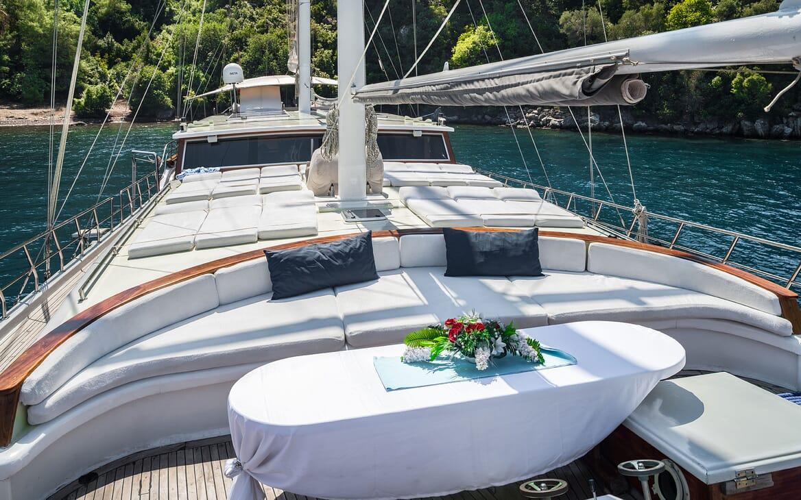 Sailing Yacht S NUR TAYLAN Forward Deck Table