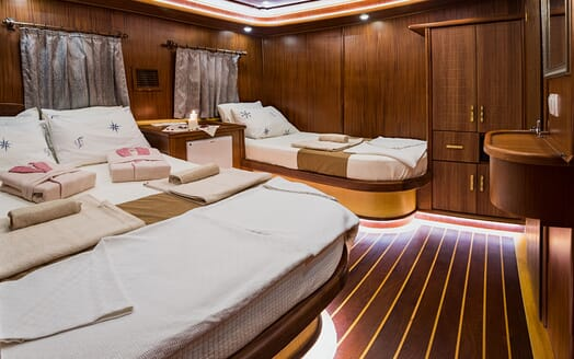 Sailing Yacht S NUR TAYLAN Twin Guest Stateroom