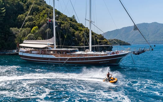 Sailing Yacht S NUR TAYLAN Exterior with Jetski