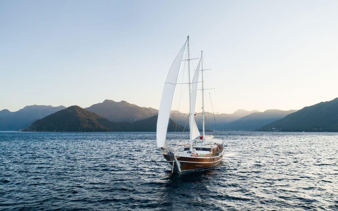 Sailing Yacht S NUR TAYLAN Mountain View