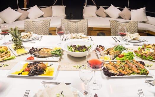 Sailing Yacht S NUR TAYLAN Seafood Dinner