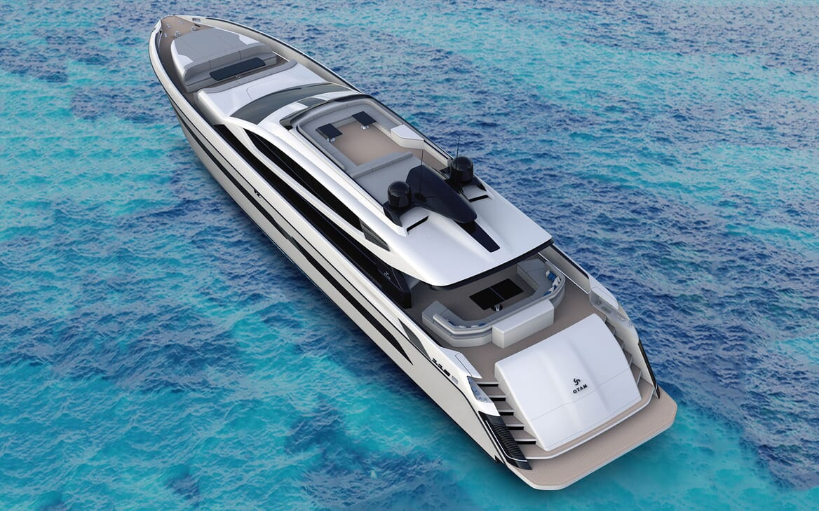 Motor Yacht OTAM CUSTOM RANGE 115 Exterior Aft View