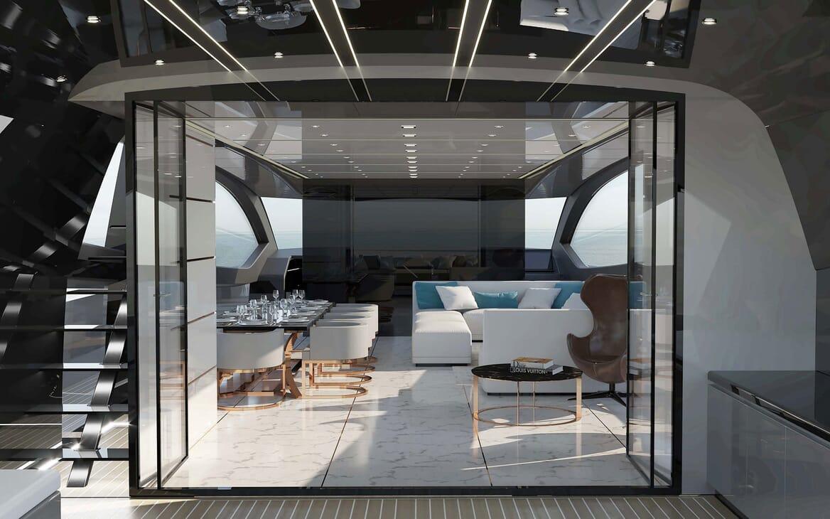 Motor Yacht OTAM CUSTOM RANGE 115 Main Salon Option 1