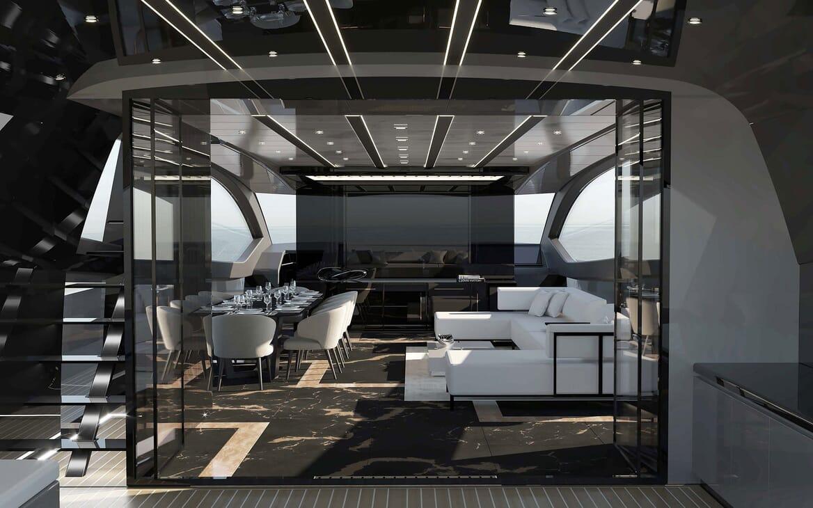 Motor Yacht OTAM CUSTOM RANGE 115 Main Salon Option 2