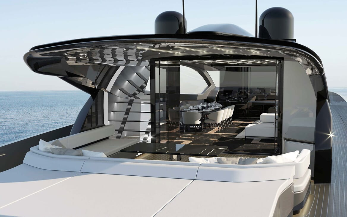 Motor Yacht OTAM CUSTOM RANGE 115 Aft Deck
