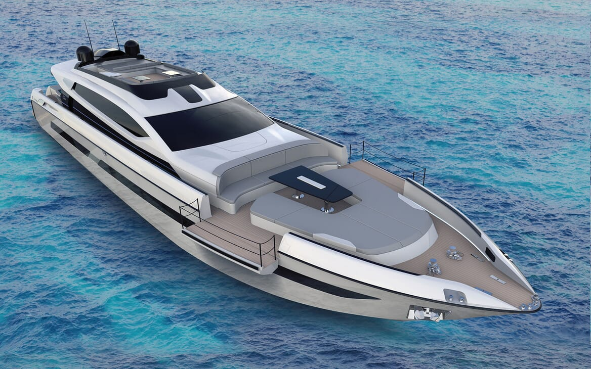 Motor Yacht OTAM CUSTOM RANGE 115 Exterior Bow Sun Pads