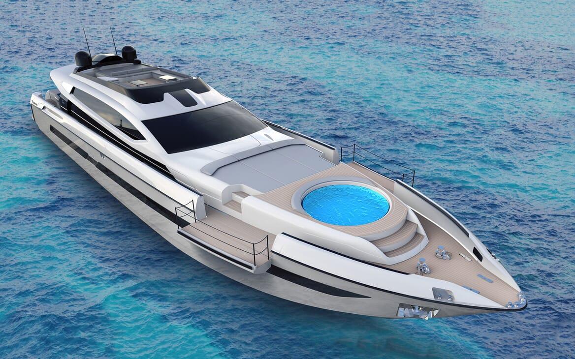 Motor Yacht OTAM CUSTOM RANGE 115 Exterior Bow Jacuzzi