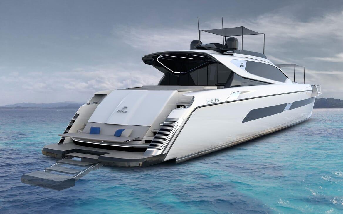 Motor Yacht OTAM CUSTOM RANGE 115 Exterior Aft Swim Platform