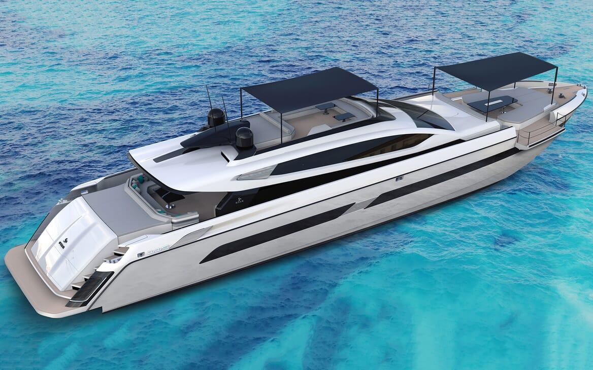 Motor Yacht OTAM CUSTOM RANGE 115 Exterior Sun Shades
