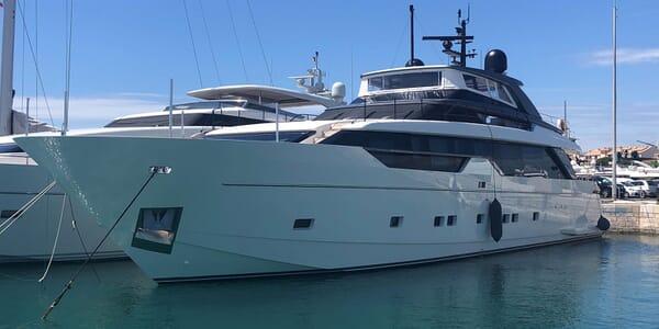Motor Yacht MAJOLA Profile At Anchor