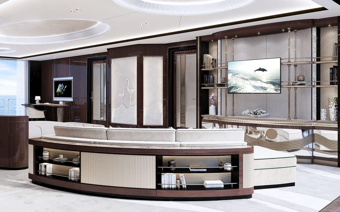 Motor Yacht VAST 72M Master Stateroom TV