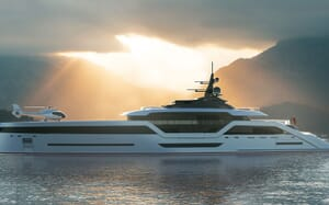 Motor Yacht VAST 72M Helicopter on Deck