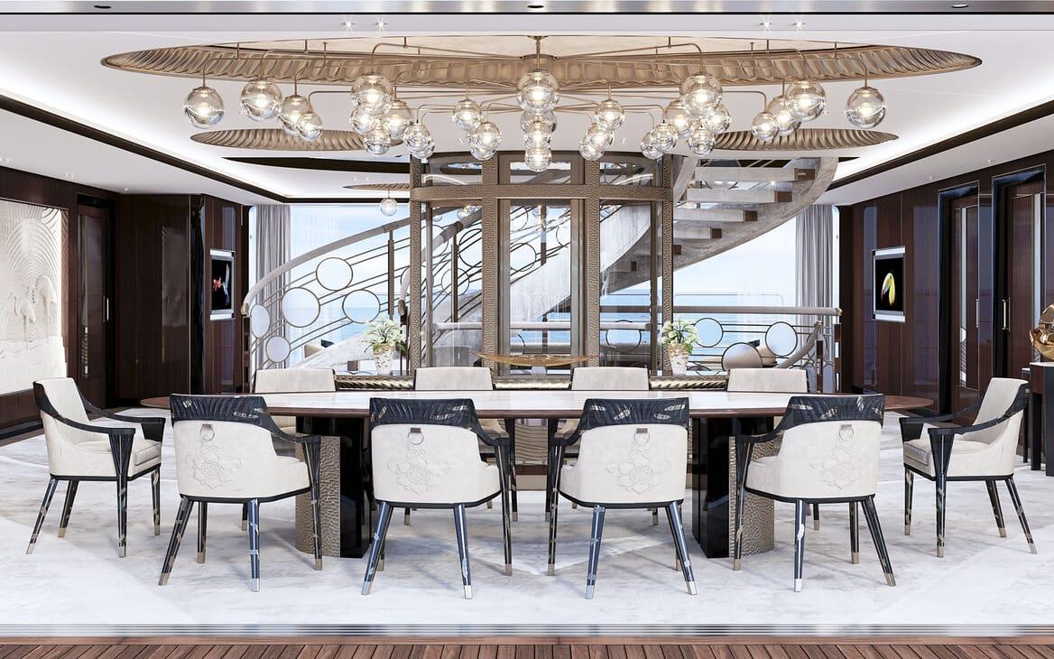 Motor Yacht VAST 72M Dining Table