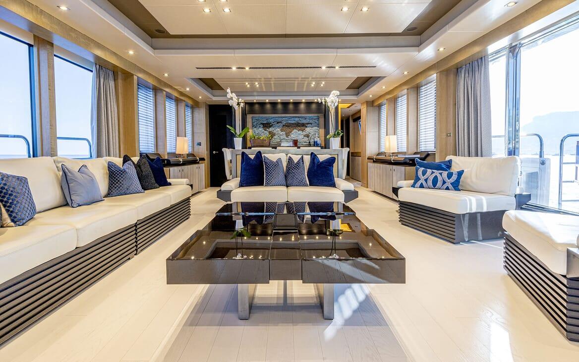 Motor Yacht RENEWAL 2 Main Salon to Aft