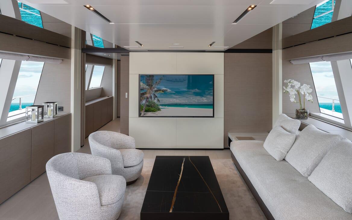 Motor Yacht ADELIA Upper Deck Salon