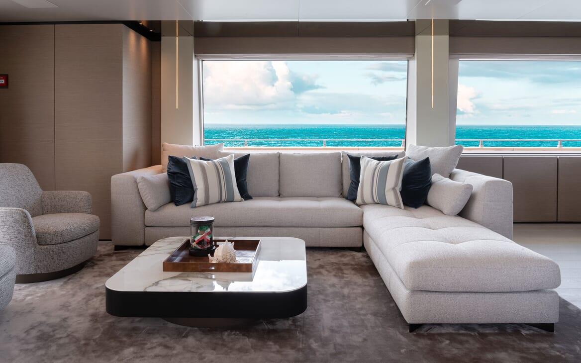 Motor Yacht ADELIA Salon Sofa