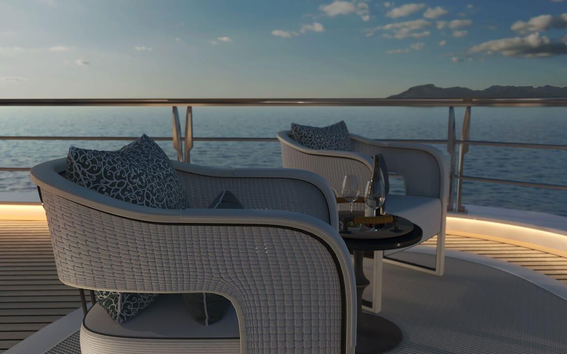 Sailing Yacht PROJECT SONATA Deck Seating