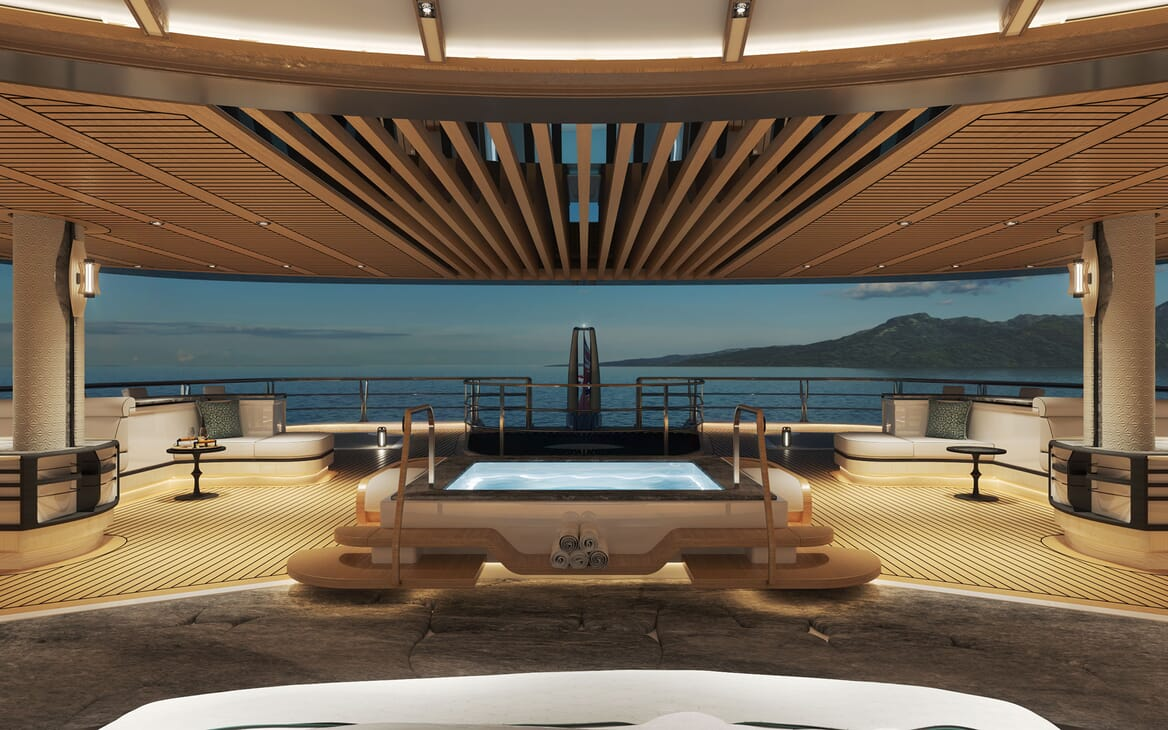 Sailing Yacht PROJECT SONATA Aft Deck