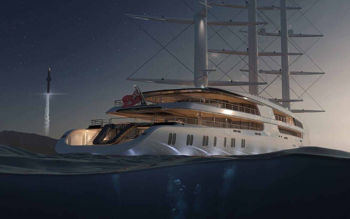 Sailing Yacht PROJECT SONATA Exterior Aft