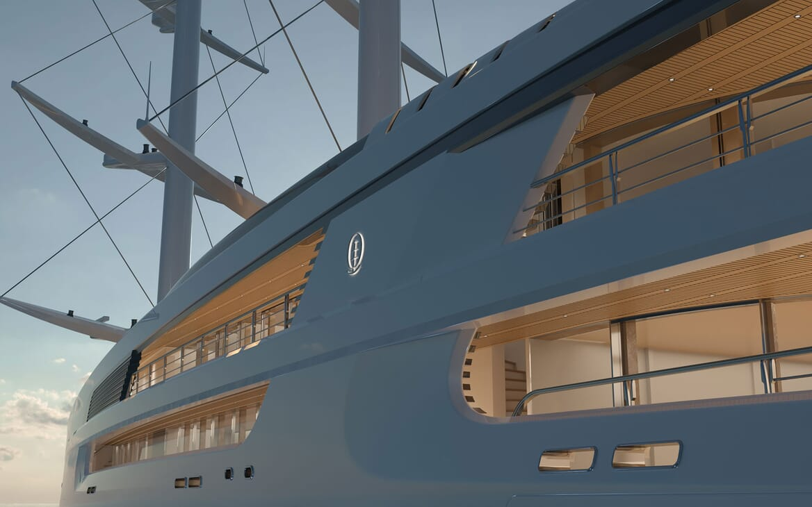 Sailing Yacht PROJECT SONATA Exterior Side Detail