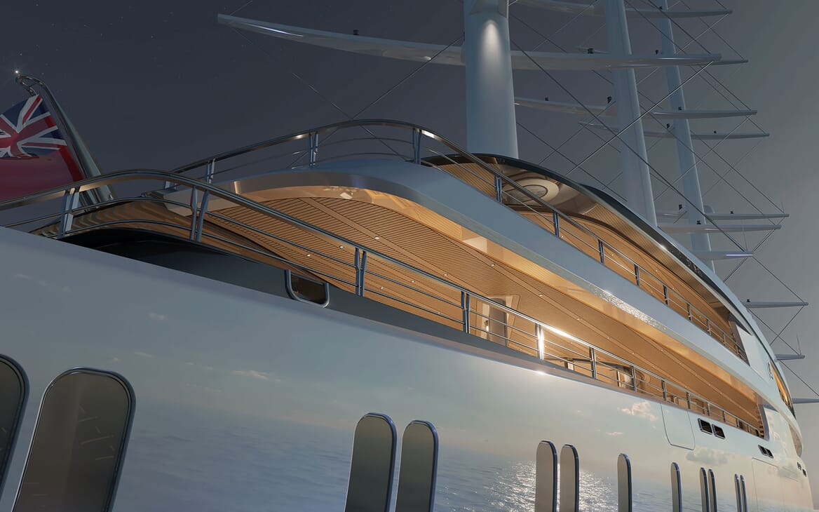 Sailing Yacht PROJECT SONATA Exterior Side Aft