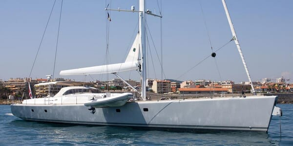 Sailing Yacht Sindonemo anchored