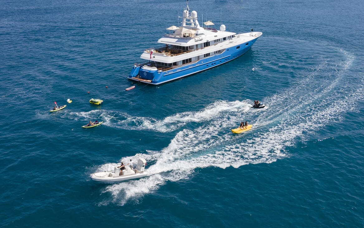 Motor Yacht MOSAIQUE Exterior With Tender and Toys