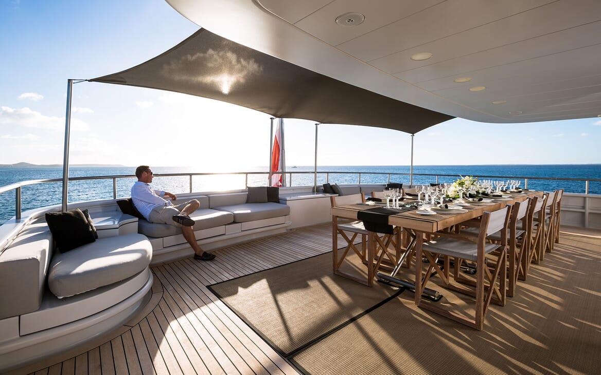 Motor Yacht MARIU Aft Deck Seating