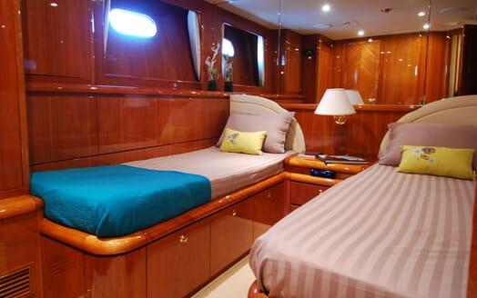 Motor Yacht BEIJA FLORE Twin Guest Stateroom