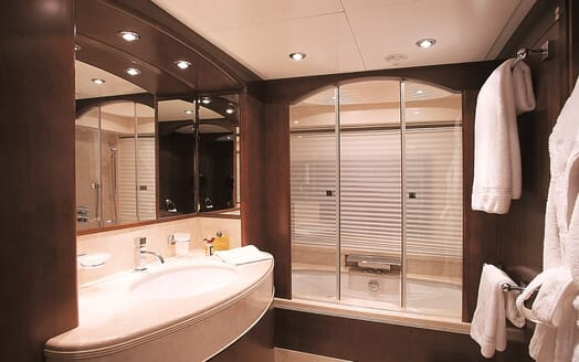 Motor Yacht More master bathroom