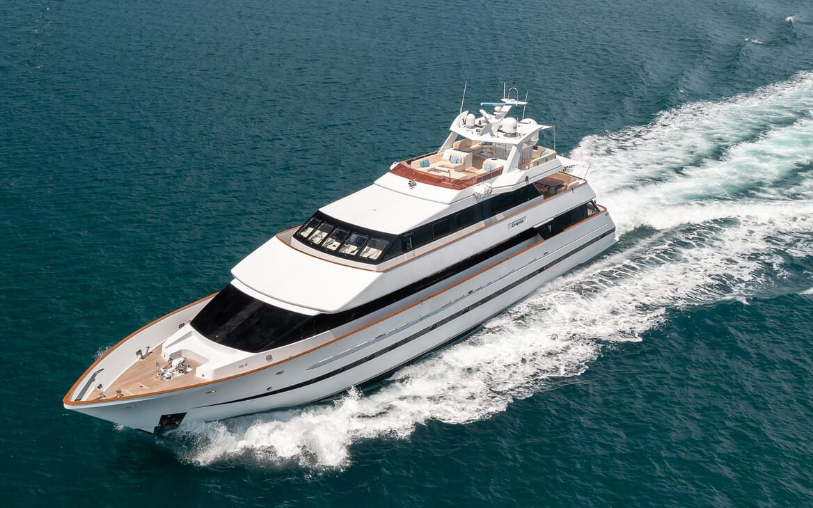 Motor Yacht LADYSHIP Exterior Underway Aerial