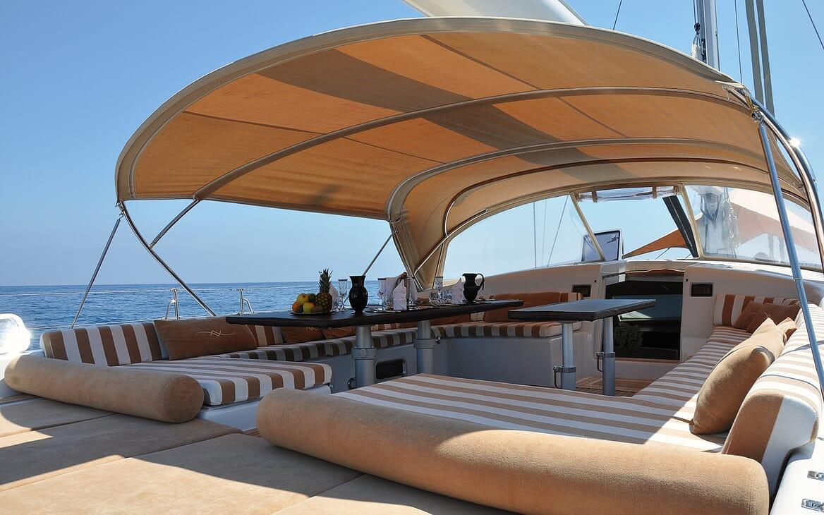 Sailing Yacht FARANDWIDE cockpit