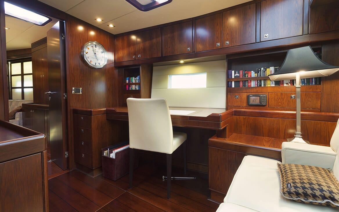 Sailing Yacht FARANDWIDE desk