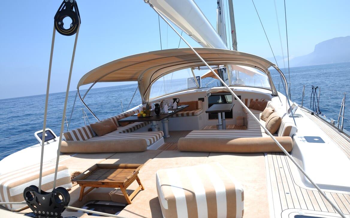 Sailing Yacht FARANDWIDE aft deck