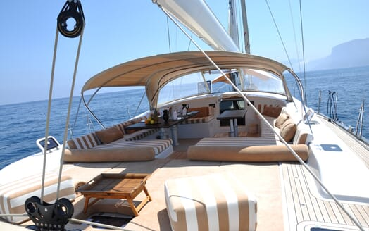 Sailing Yacht FARANDWIDE aft deck