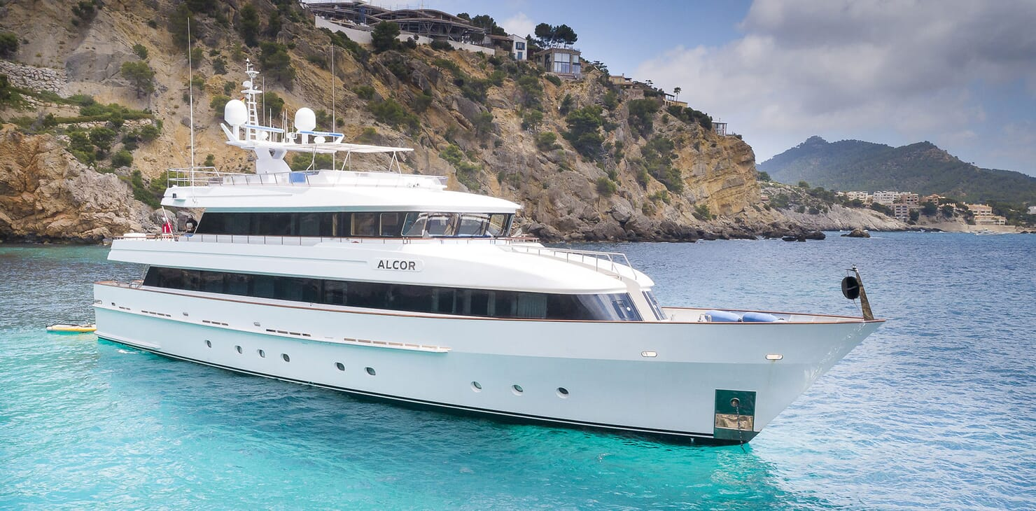 Motor Yacht ALCOR Side On Profile Underway