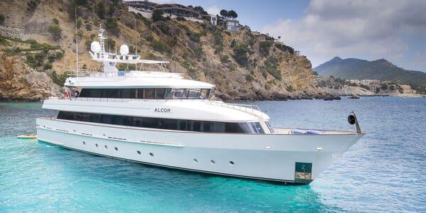 Motor Yacht ALCOR Exterior At Anchor