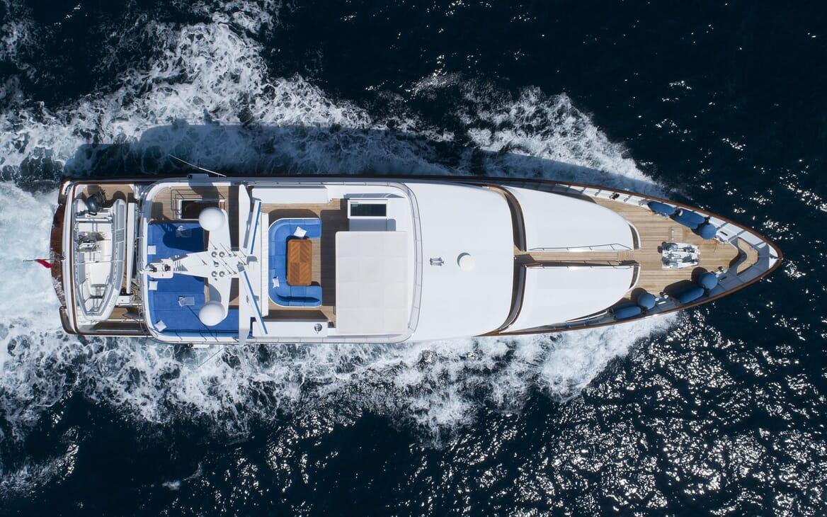 Motor Yacht ALCOR Overhead Exterior View
