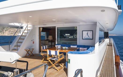 Motor Yacht ALCOR Aft Deck and Walkway
