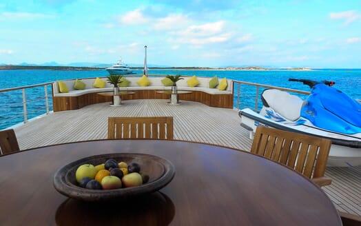 Motor Yachts TRAFALGAR Sun Deck Seating and Jetski