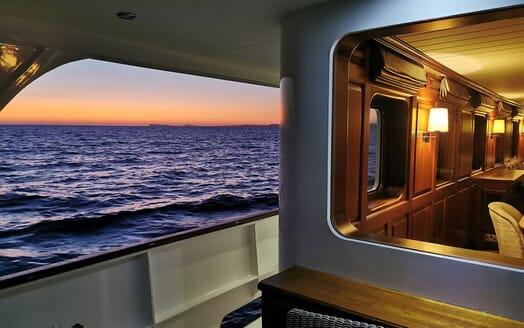 Motor Yachts TRAFALGAR Evening Walkway