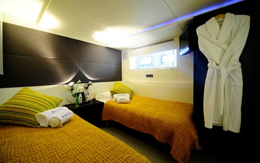 Motor Yacht Berzinc Double Guest Stateroom